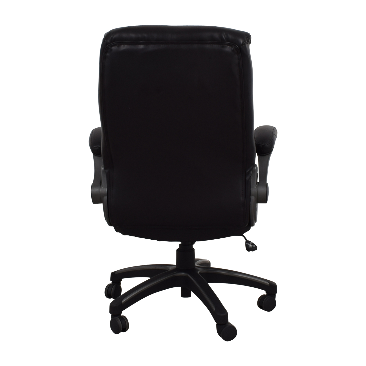 Black Leather Office Chair Home Chairs