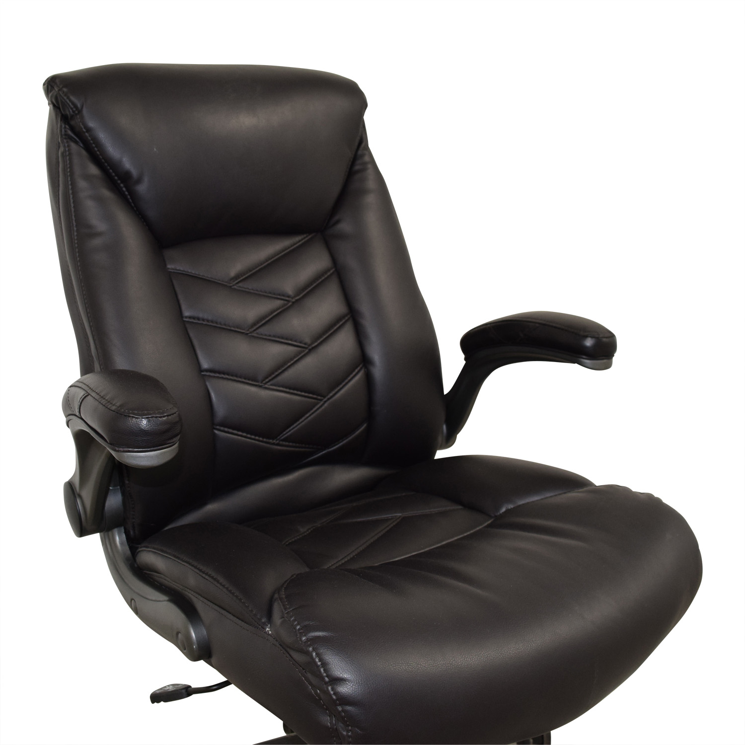 58% OFF - Black Leather Office Chair / Chairs