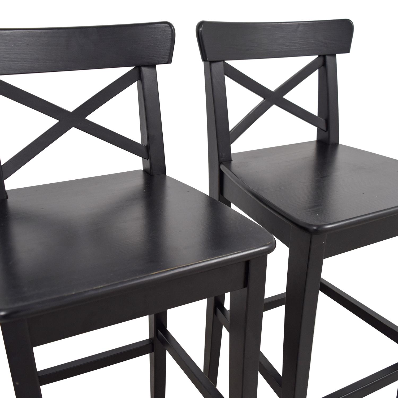 IKEA Wooden Barstool Chairs IKEA