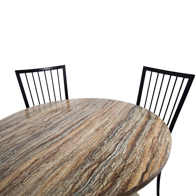 shop Wayfair Stone Dining Table Set Wayfair