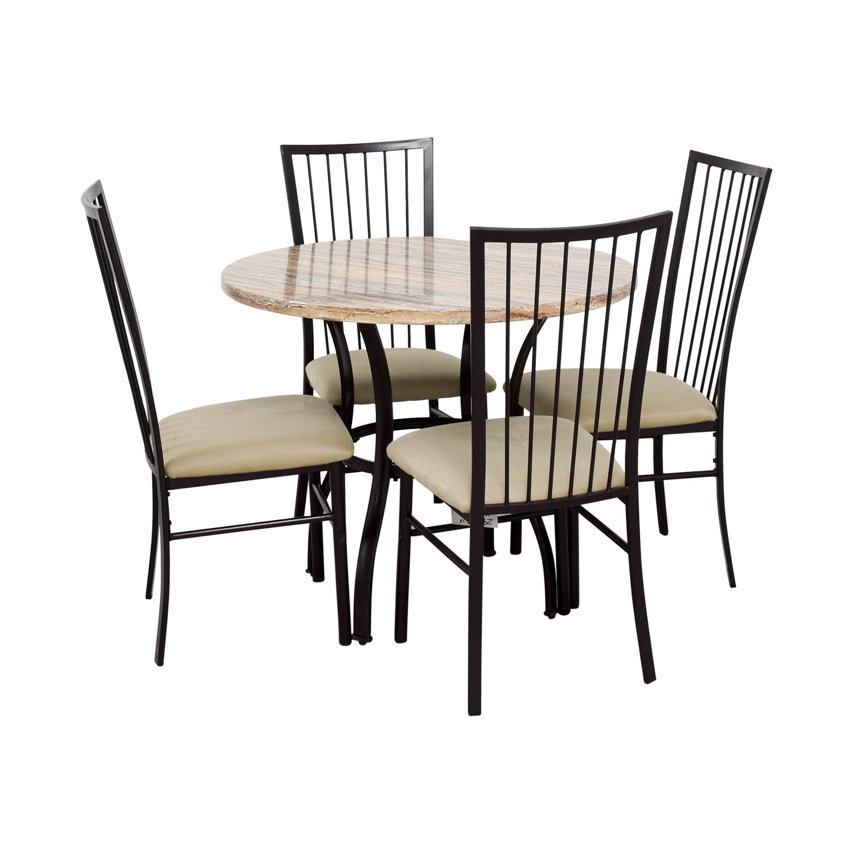 buy Wayfair Stone Dining Table Set Wayfair