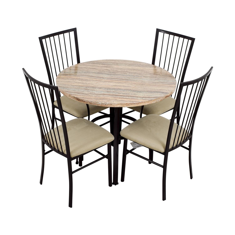 Surprising 80 Off Wayfair Wayfair Stone Dining Table Set Tables Andrewgaddart Wooden Chair Designs For Living Room Andrewgaddartcom