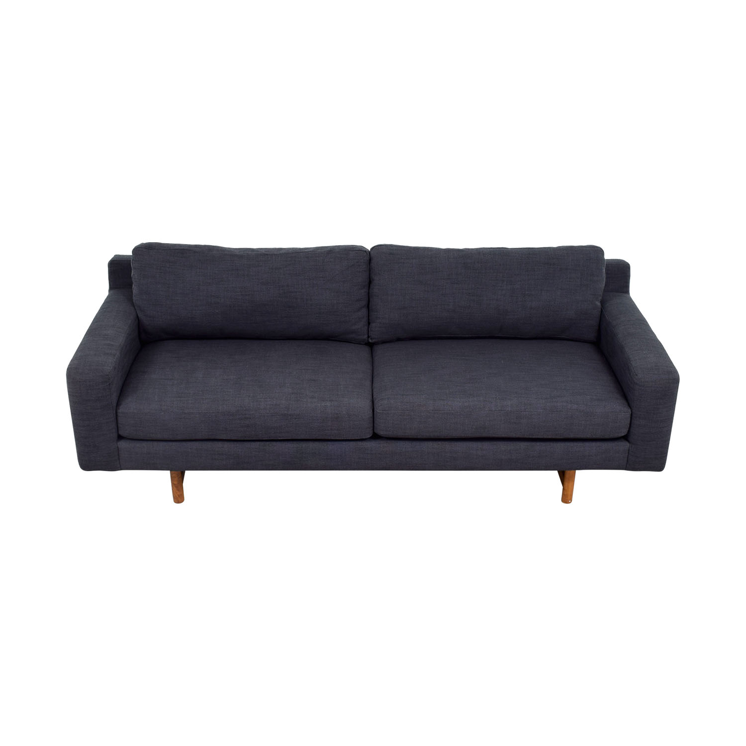 shop West Elm Blue Two-Cushion Sofa West Elm Sofas