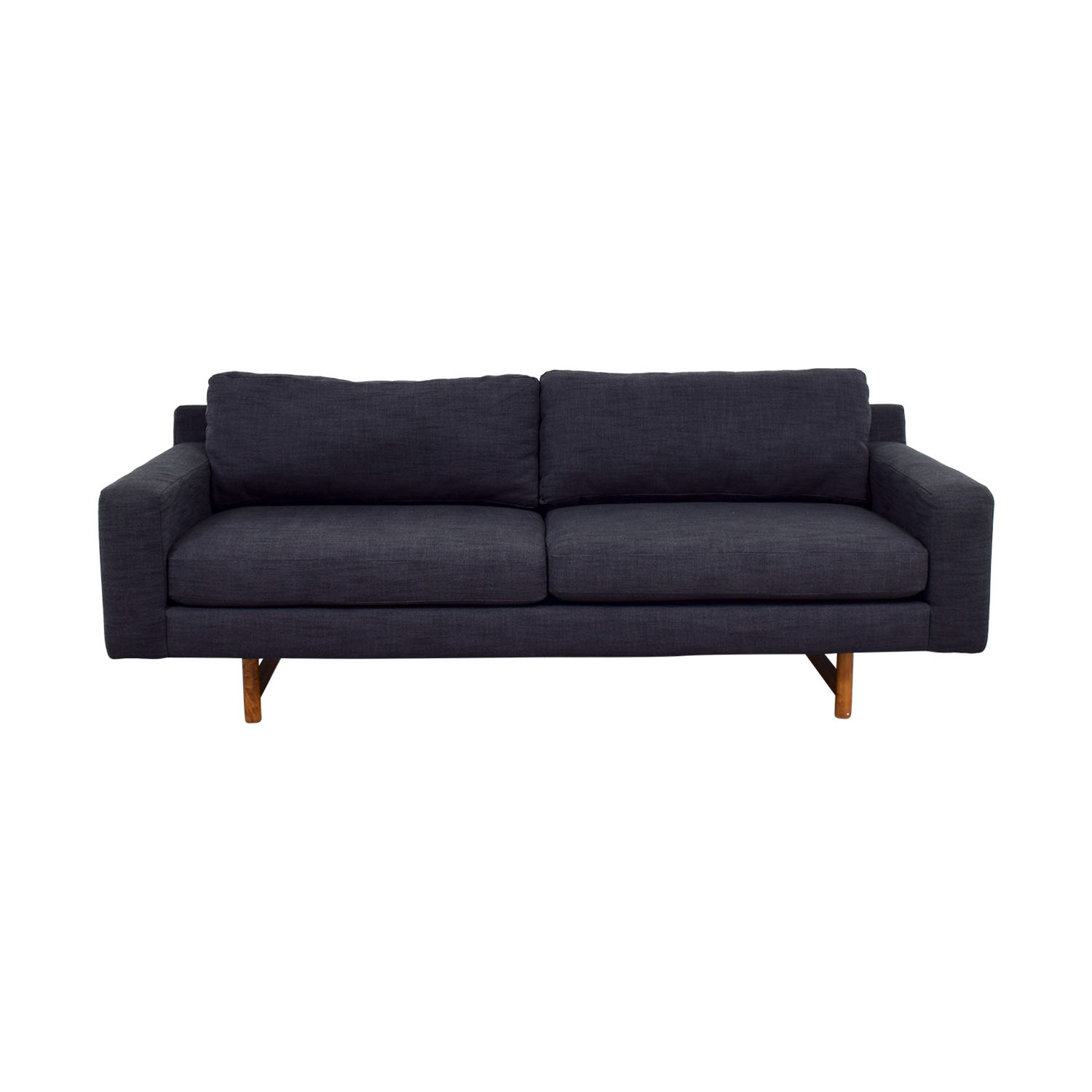 buy West Elm Blue Two-Cushion Sofa West Elm
