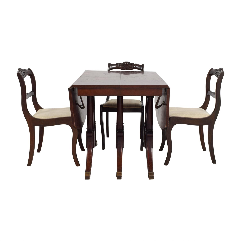 shop Extendable Folding Leaves Dining Set Tables