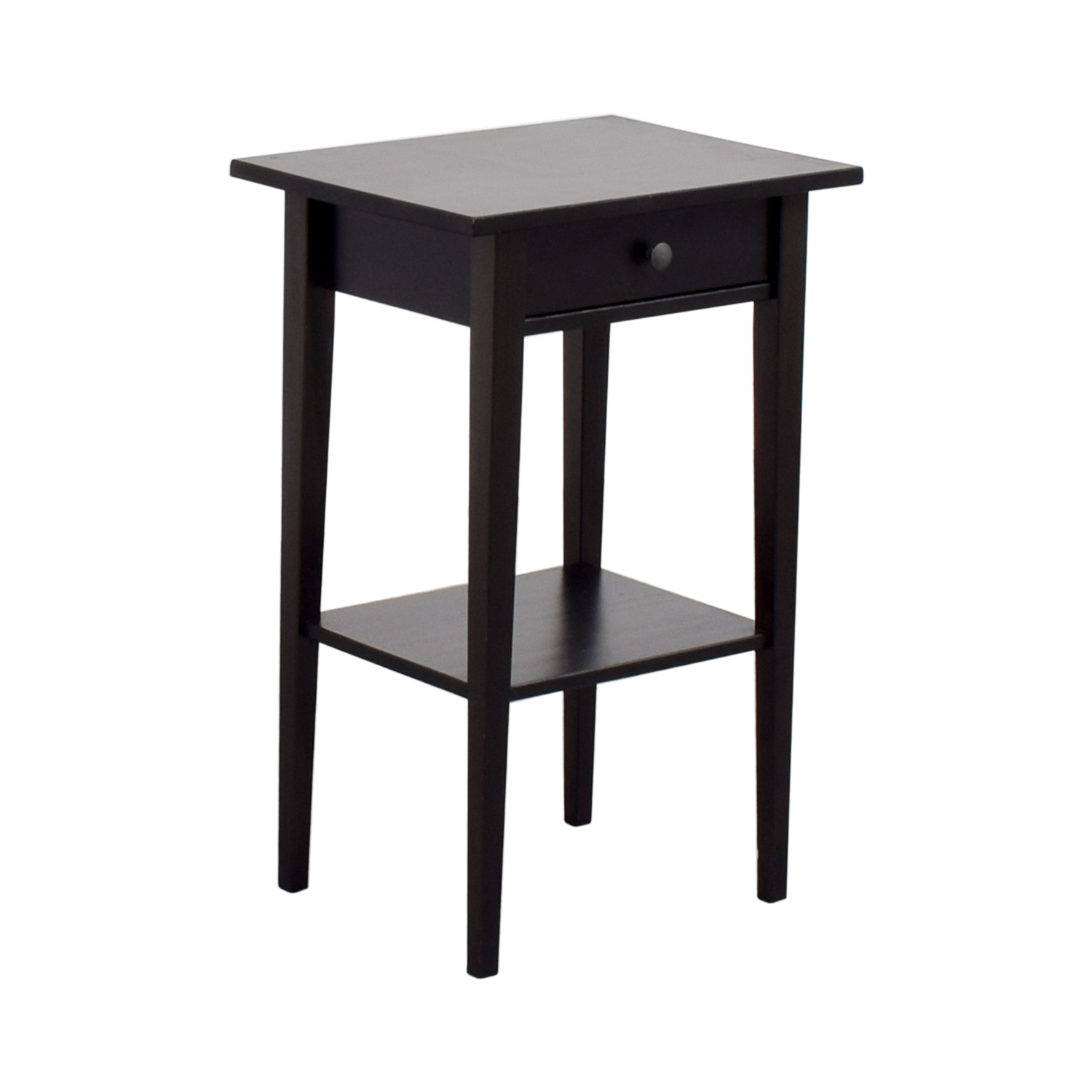 66 off ikea ikea brown single drawer nightstand tables. Black Bedroom Furniture Sets. Home Design Ideas