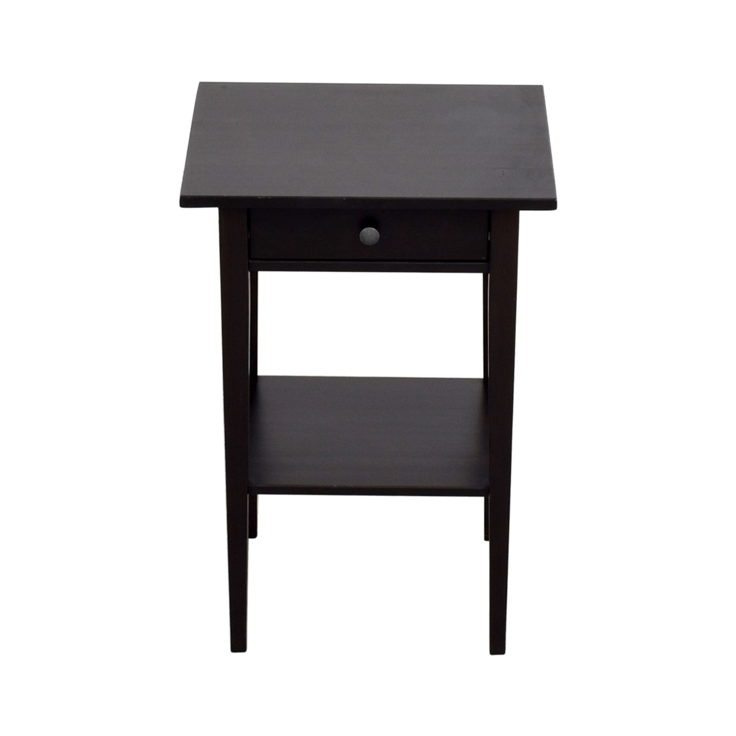 Ikea Brown Single Drawer Nightstand On