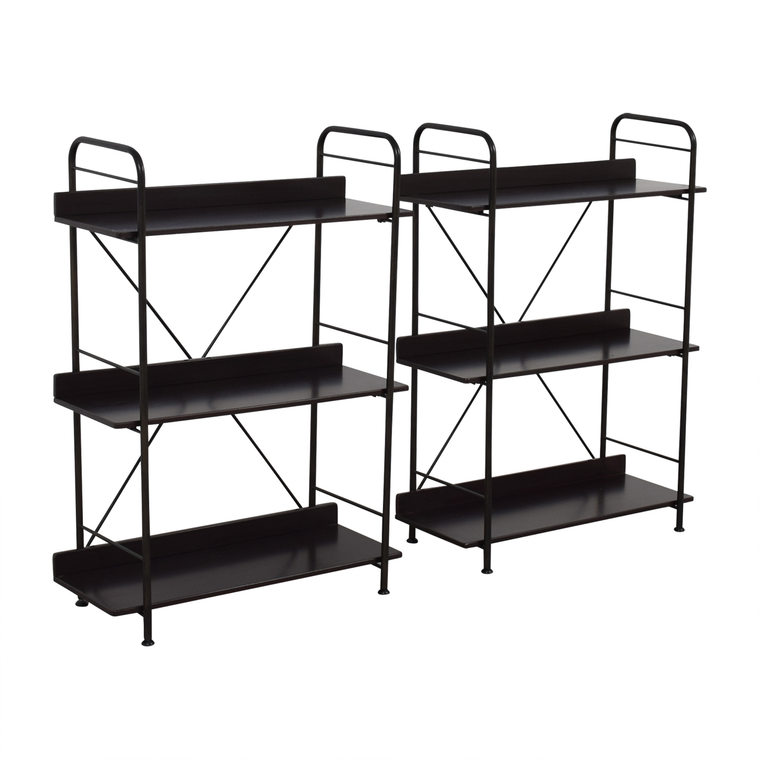 86 Off Ikea Ikea Black Bookcases Or Storage Shelves