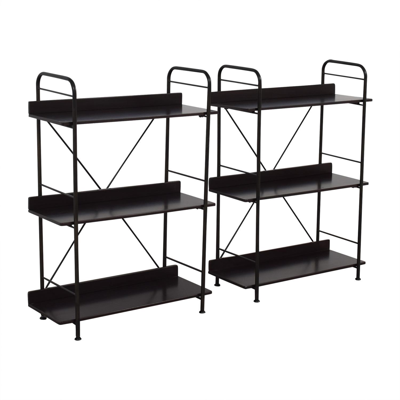 86 off ikea ikea black bookcases or storage shelves storage. Black Bedroom Furniture Sets. Home Design Ideas