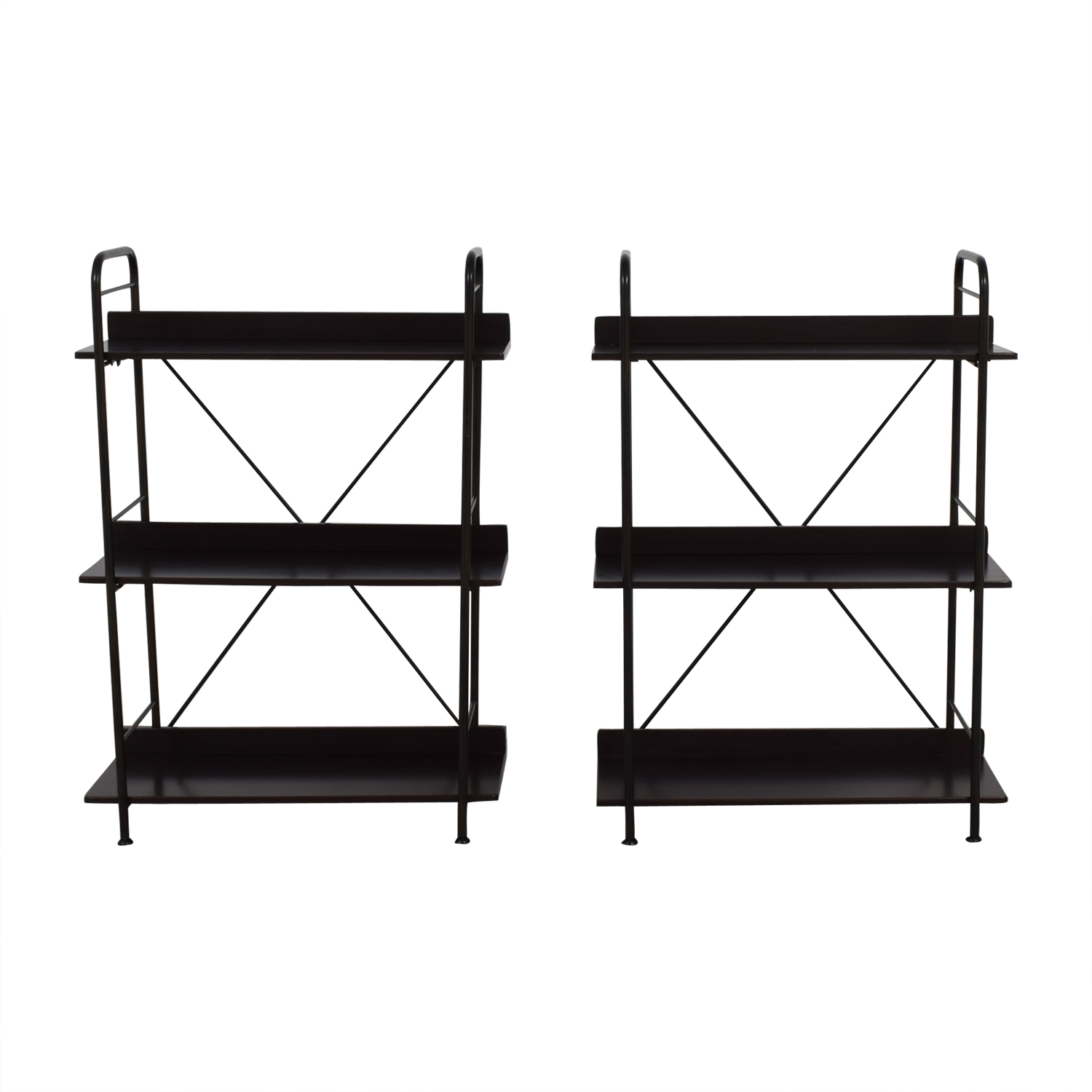 Ikea Black Bookcases Or Storage Shelves