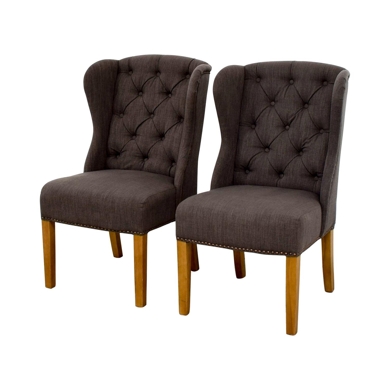 Greyson Greyson Grey Tufted Chairs used