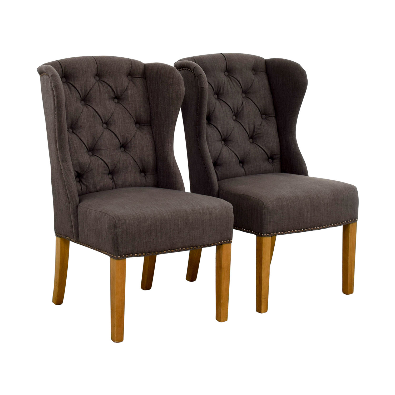 Greyson Greyson Grey Tufted Chairs