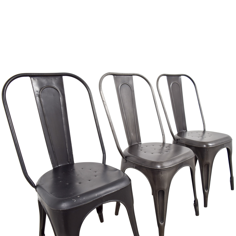 Arhaus Arhaus Bryant Dining Side Chairs Metal Gray