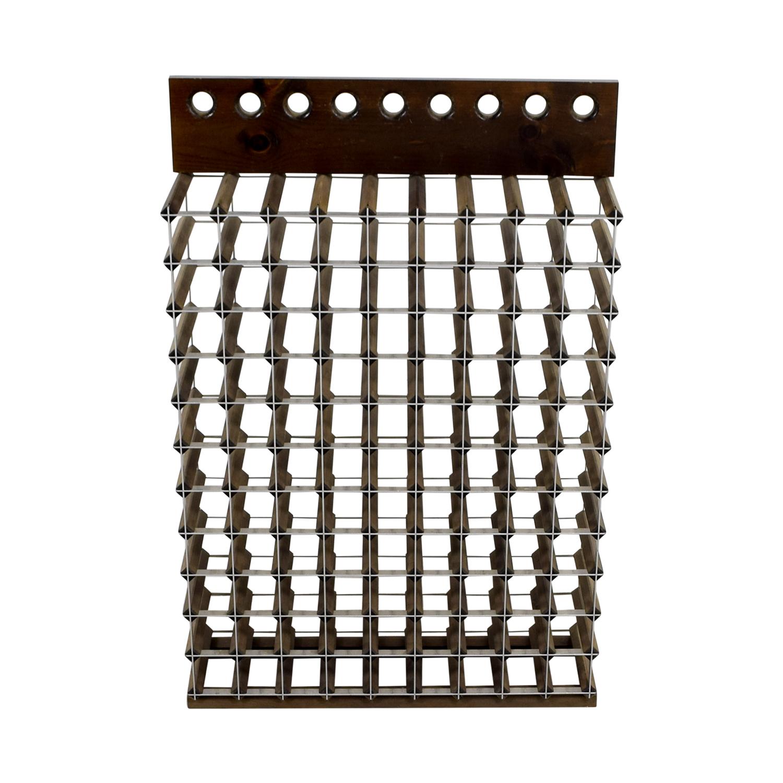 shop Custom Wood and Metal Wine Rack