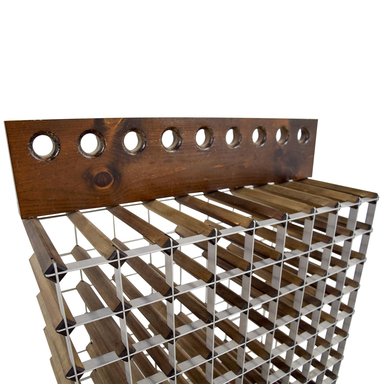 Custom Wood and Metal Wine Rack