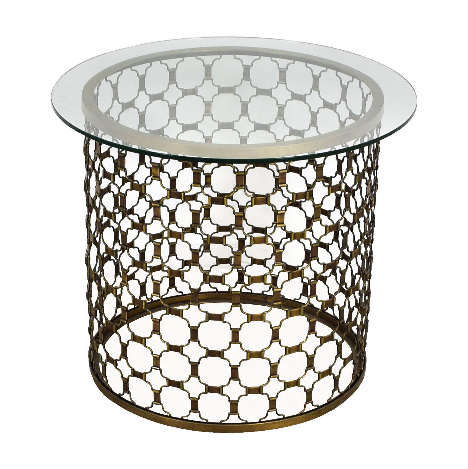 buy Naomi Round Brass and Glass Dining Table Naomi Dinner Tables