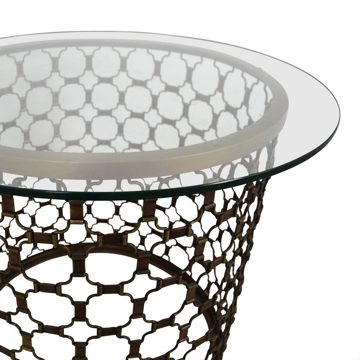 Naomi Naomi Round Brass and Glass Dining Table for sale