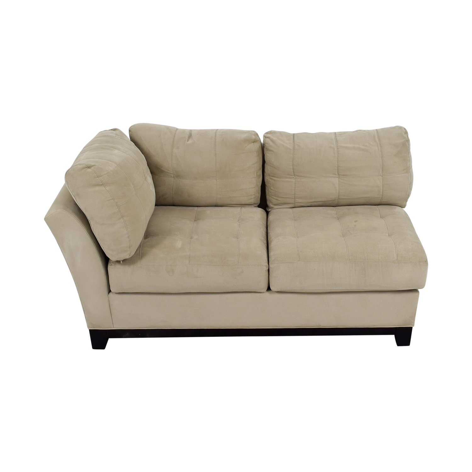 Raymour & Flanigan Raymour & Flanigan Grey Microfiber Loveseat coupon