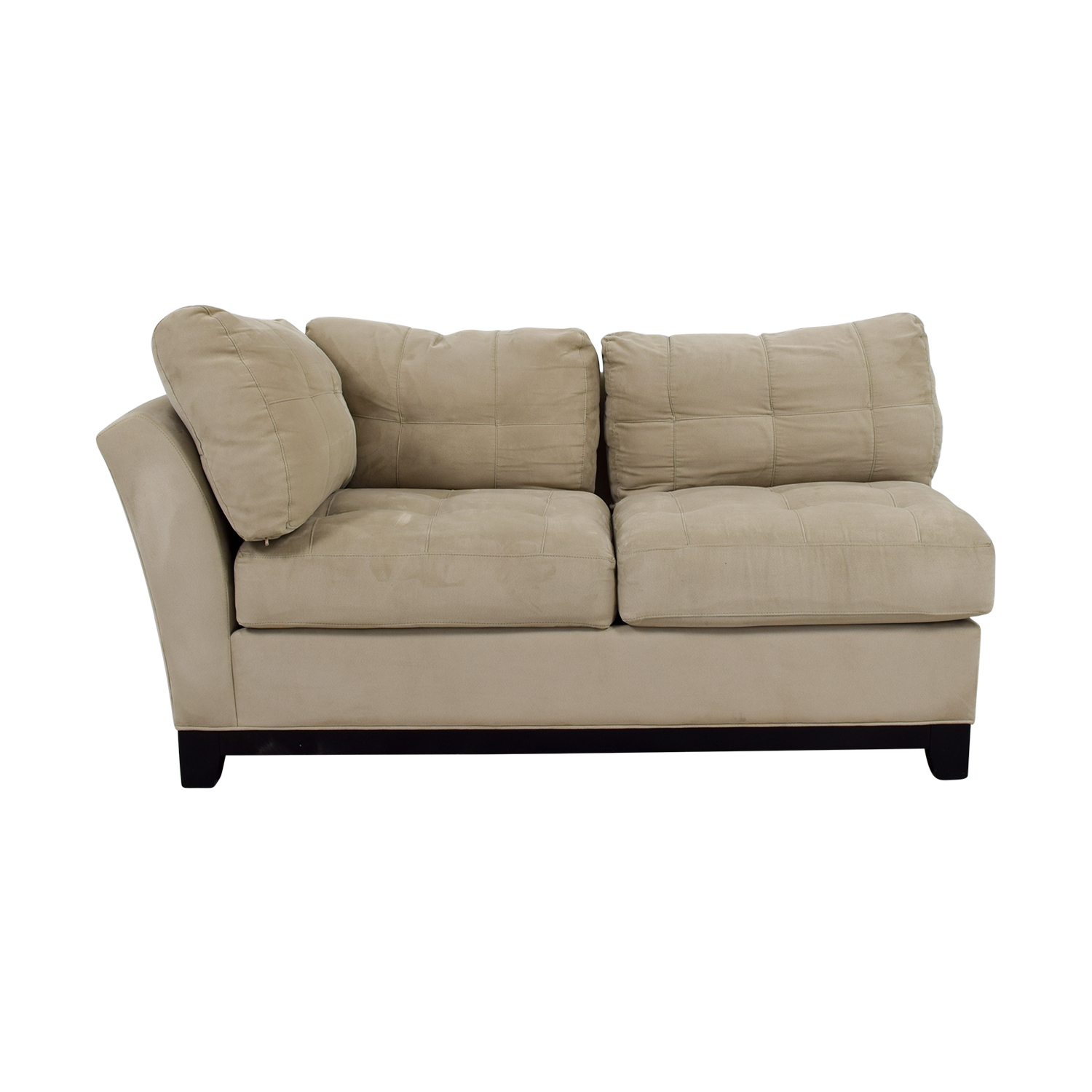 Raymour & Flanigan Grey Microfiber Loveseat sale