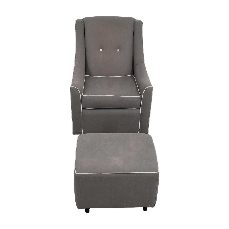 shop DaVinci Olive Grey Slider and Ottoman DaVinci Olive Accent Chairs