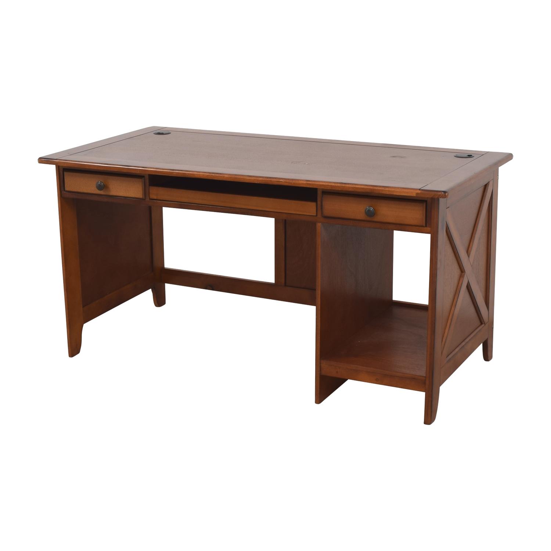 Wood Desk in Warm Walnut Finish second hand