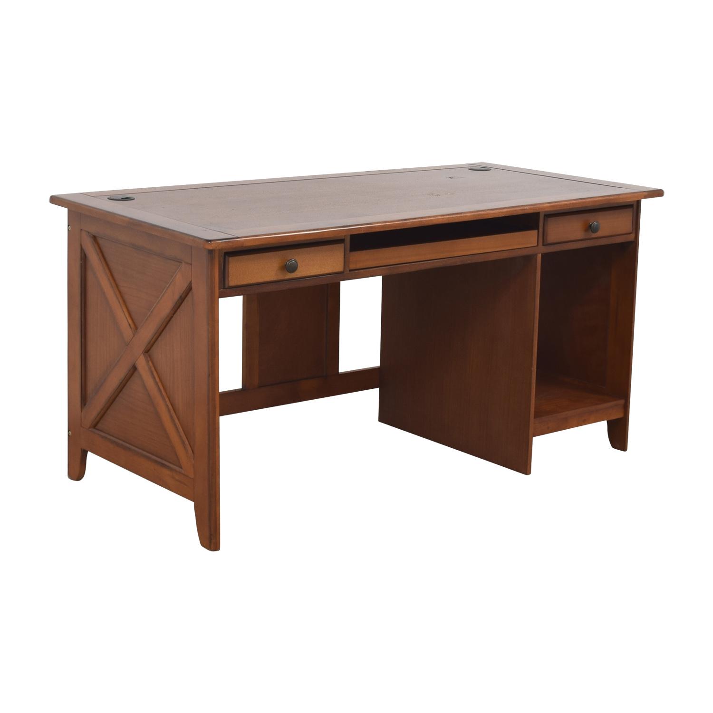 shop Wood Desk in Warm Walnut Finish Tables