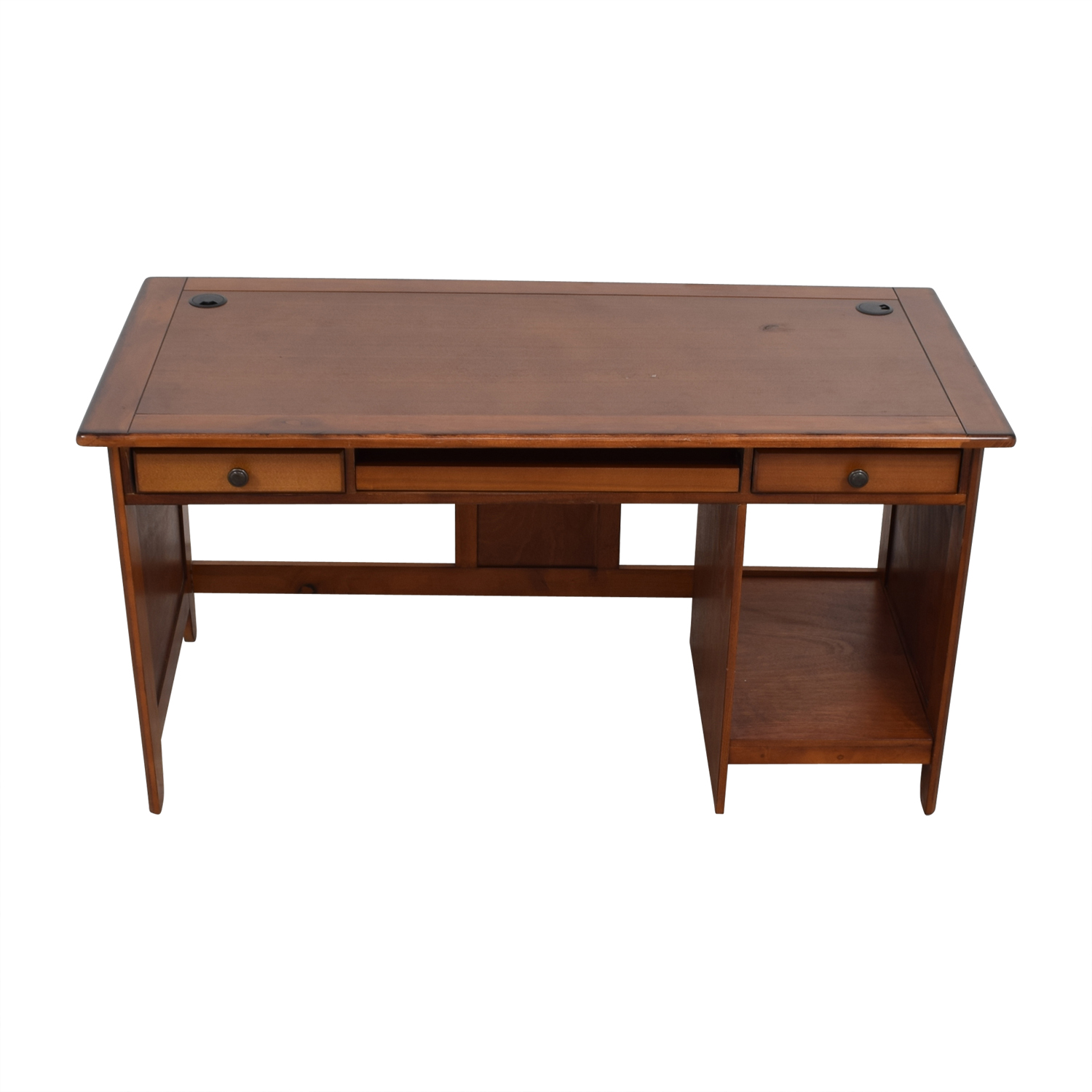 Wood Desk in Warm Walnut Finish nj