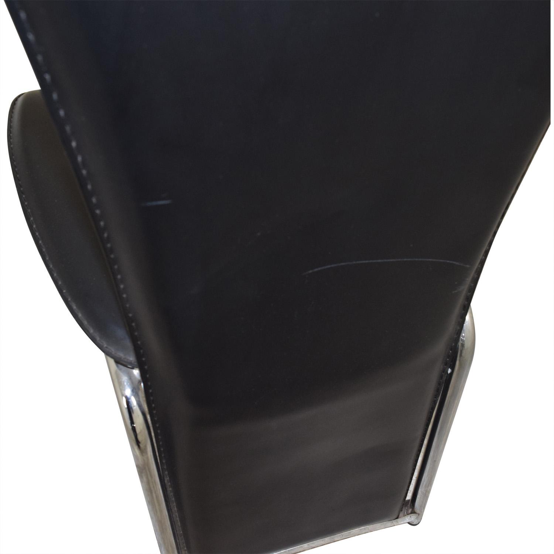 High Back Black Chair Black/chrome