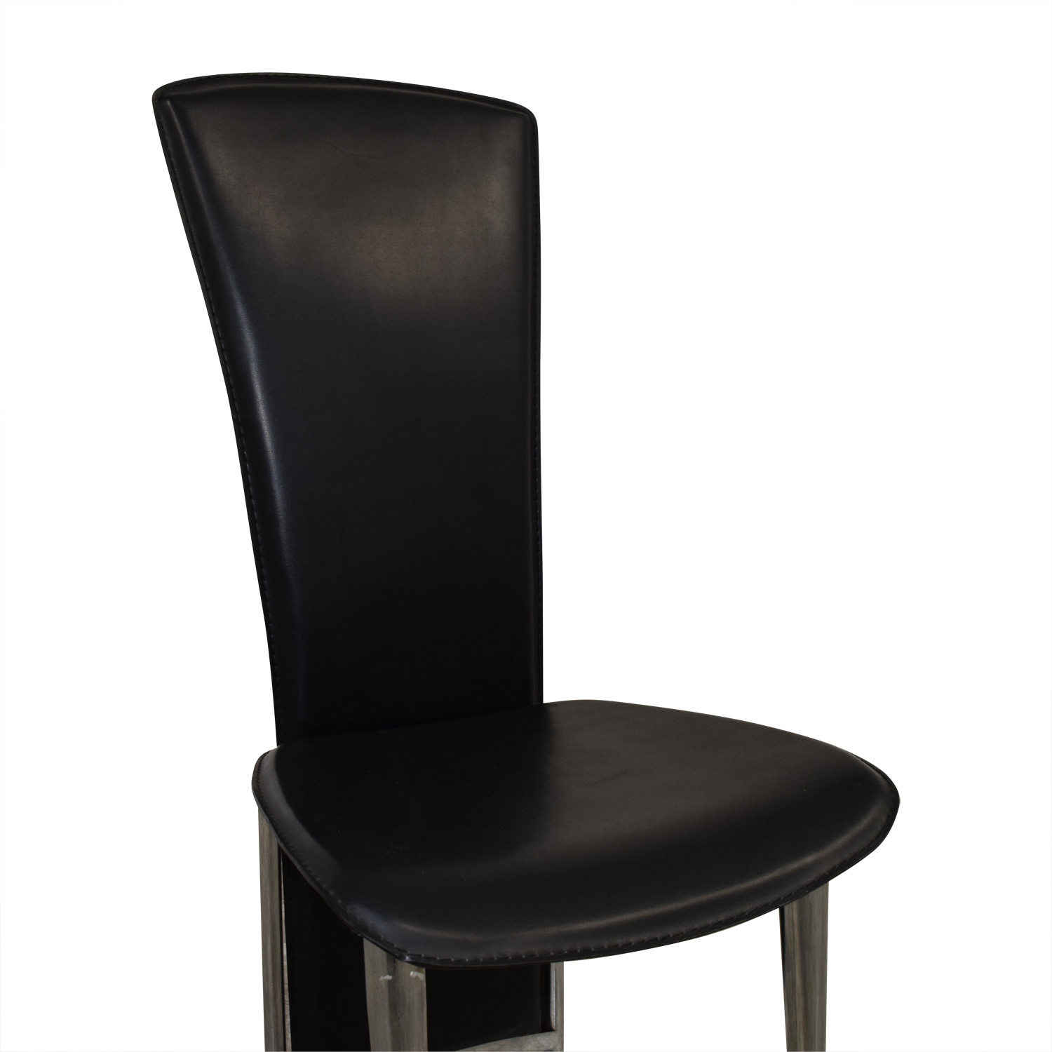 High Back Black Chair used