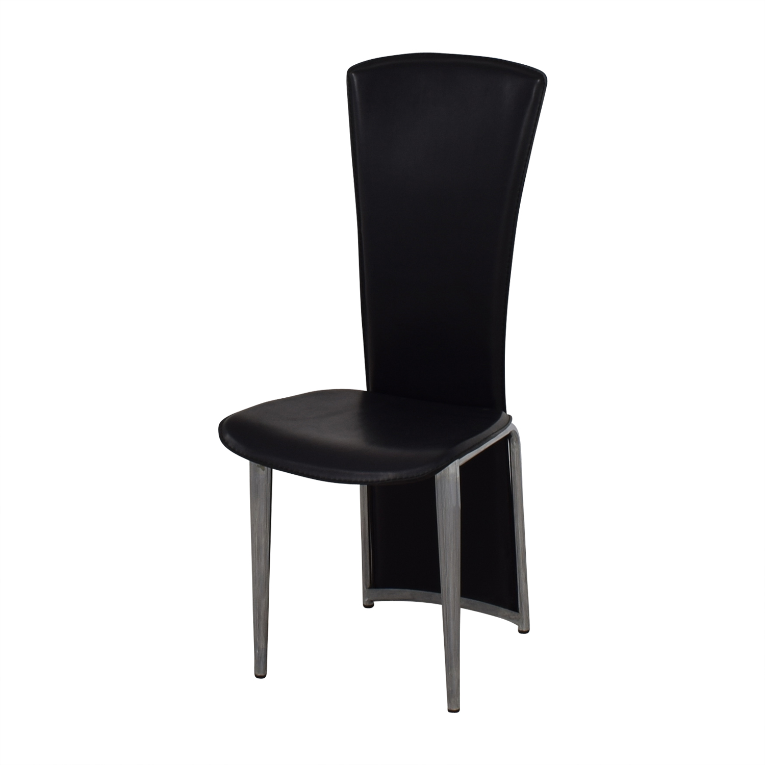 86 off high back black chair chairs. Black Bedroom Furniture Sets. Home Design Ideas