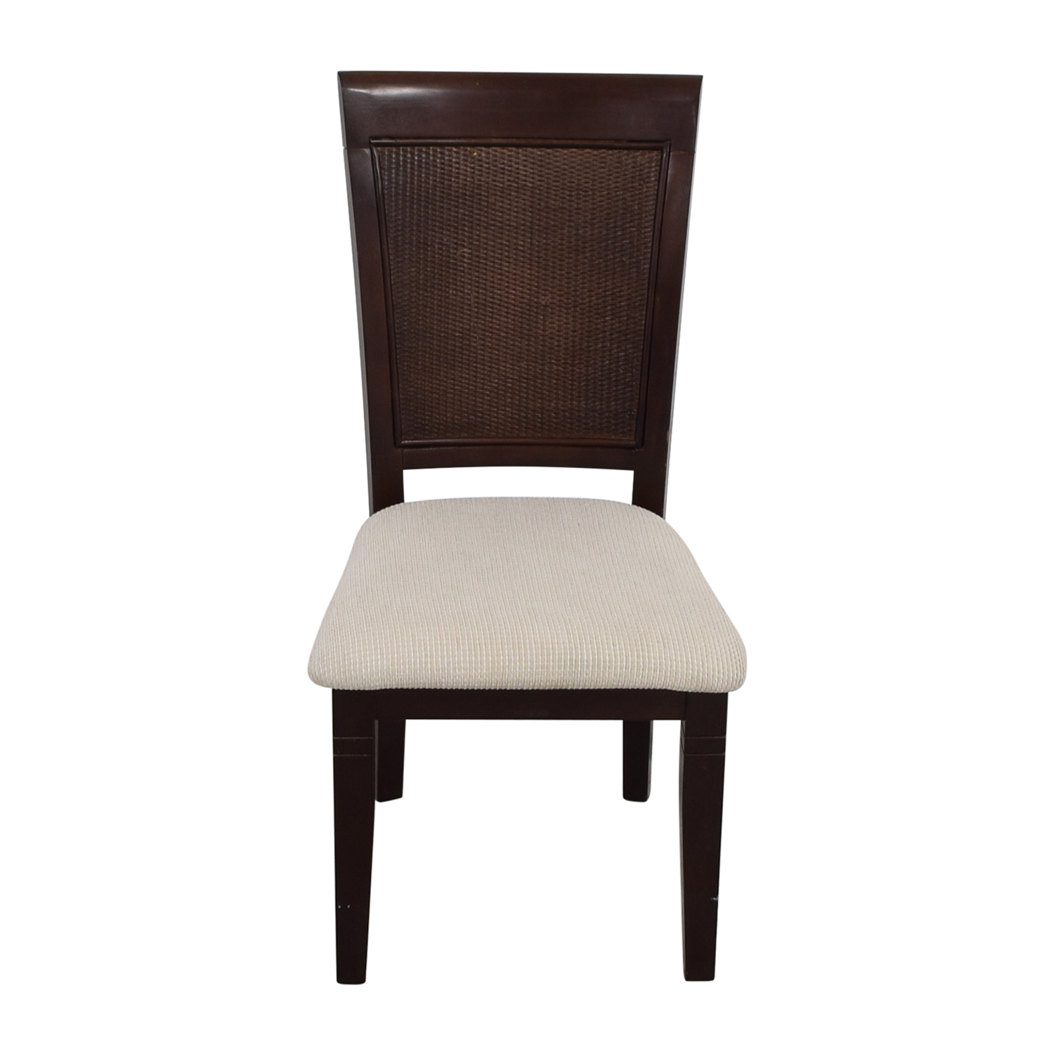 Beige Wood Chair with Padded Seat nyc