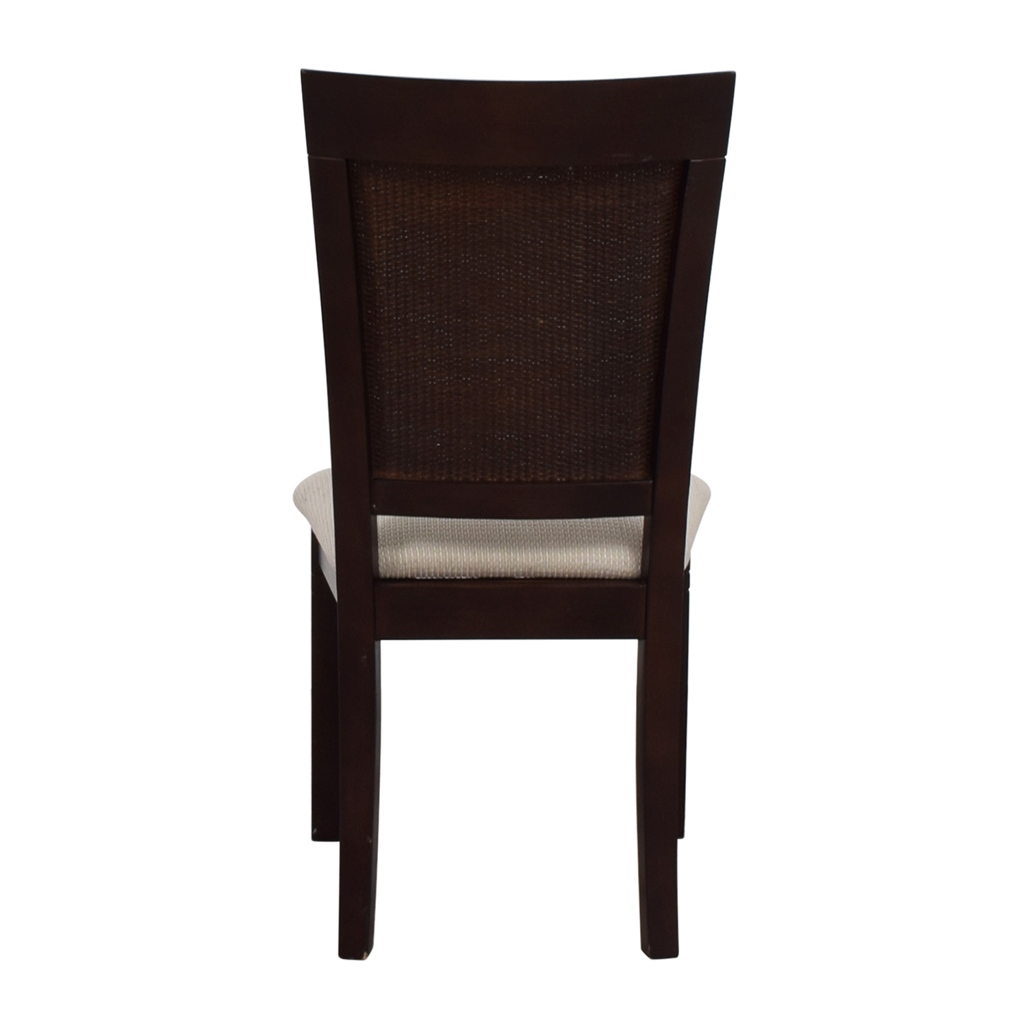 Beige Wood Chair with Padded Seat / Chairs