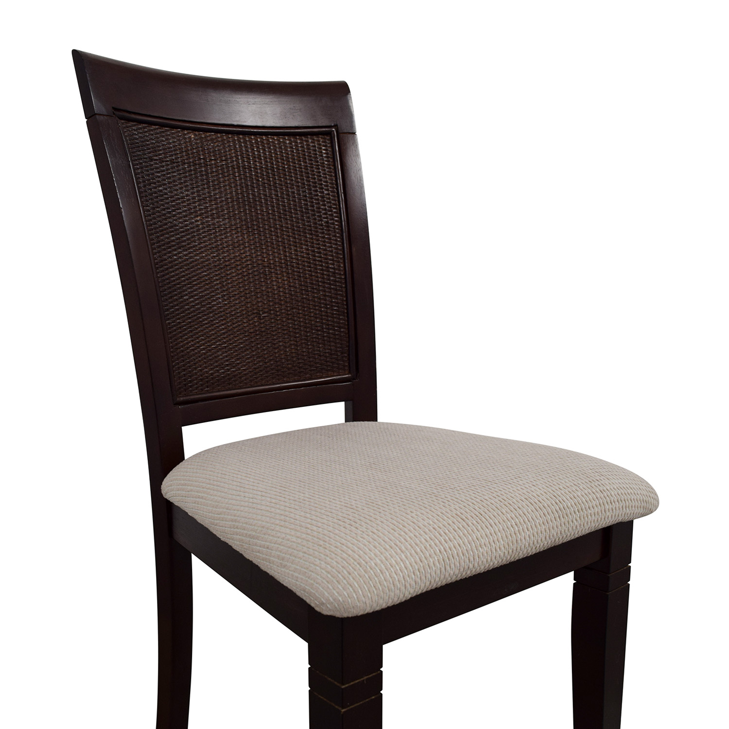 Beige Wood Chair with Padded Seat coupon