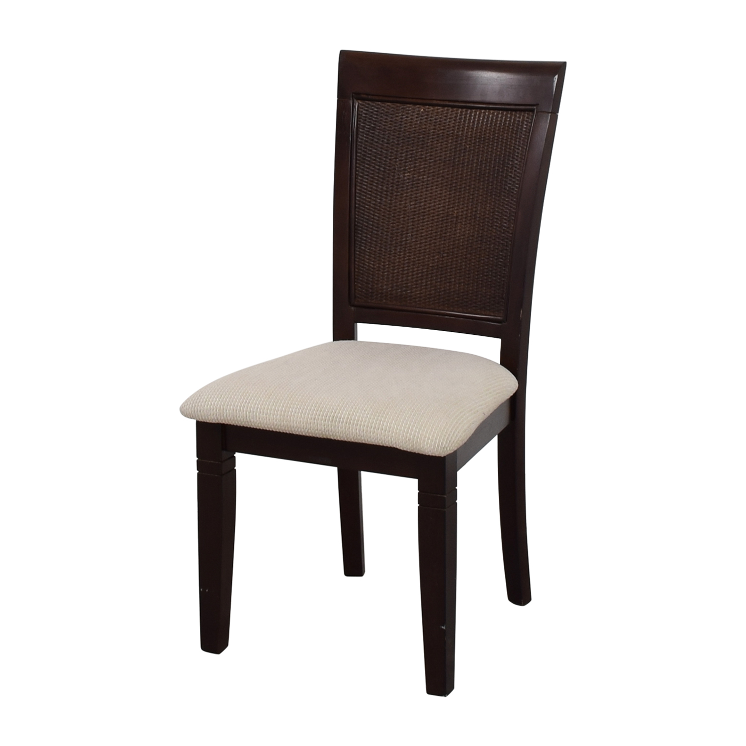 Beige Wood Chair with Padded Seat Chairs