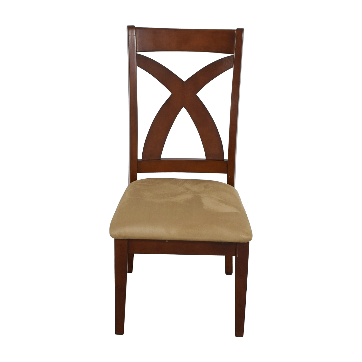 shop Solid Wood Chair with Cross Back & Padded Seat