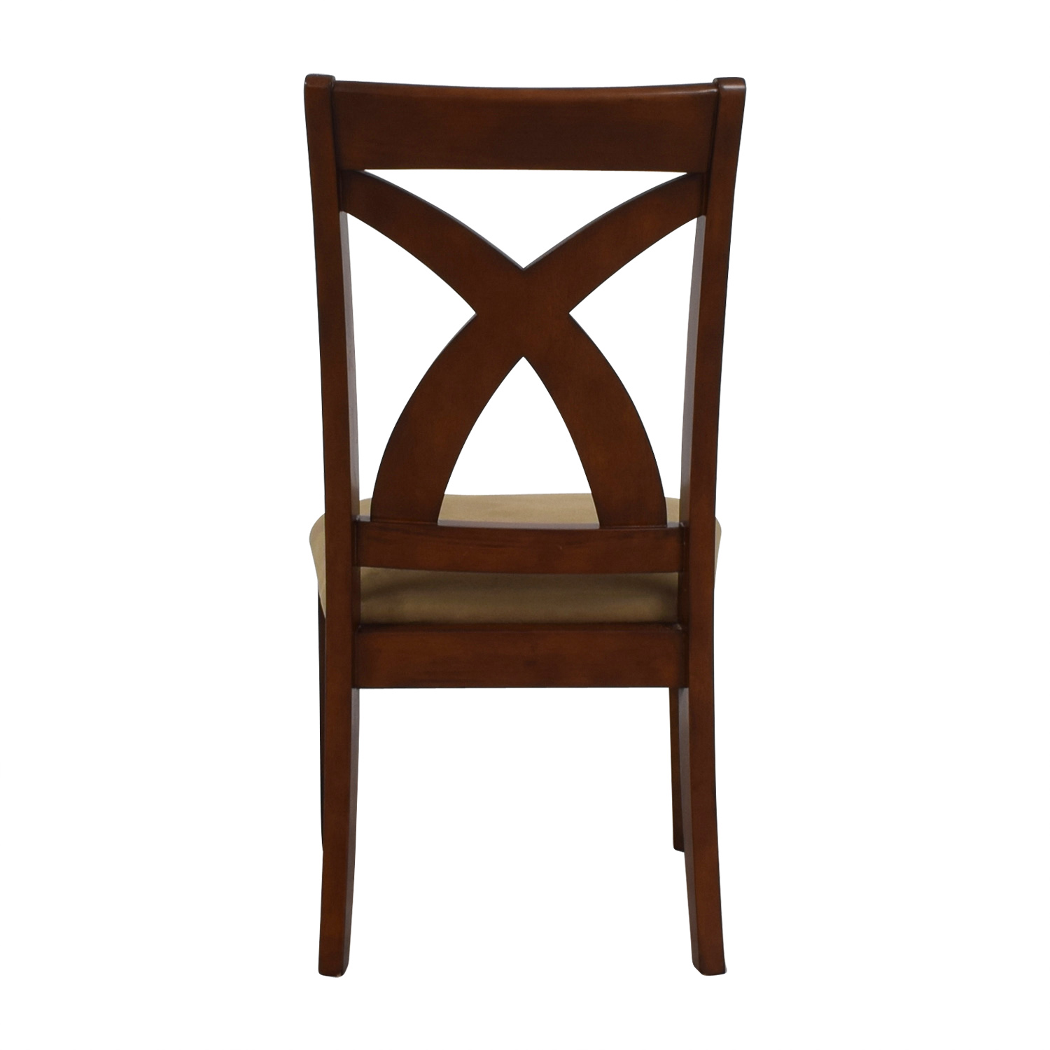 Solid Wood Chair with Cross Back & Padded Seat for sale