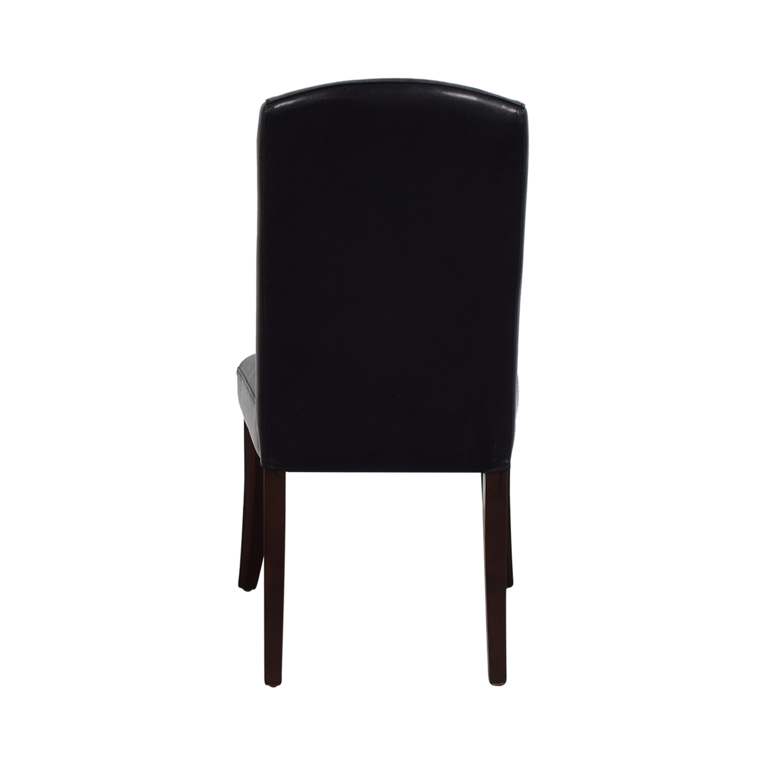 buy Black Leatherette Chair with Padded Seat online