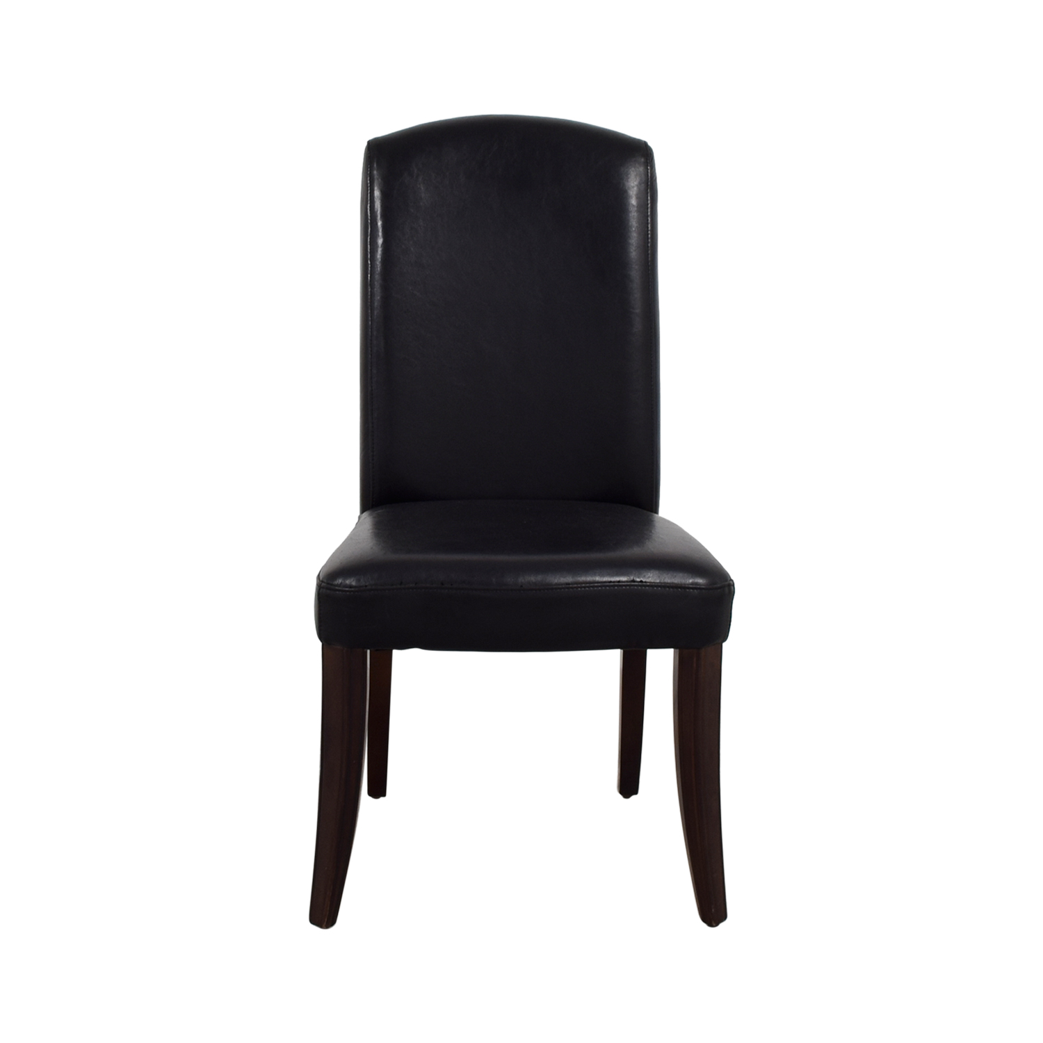 shop Black Leatherette Chair with Padded Seat Chairs