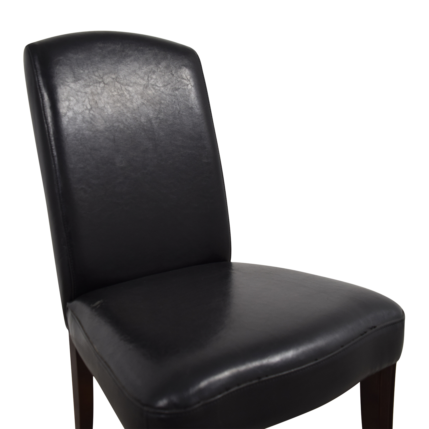 Black Leatherette Chair with Padded Seat nyc
