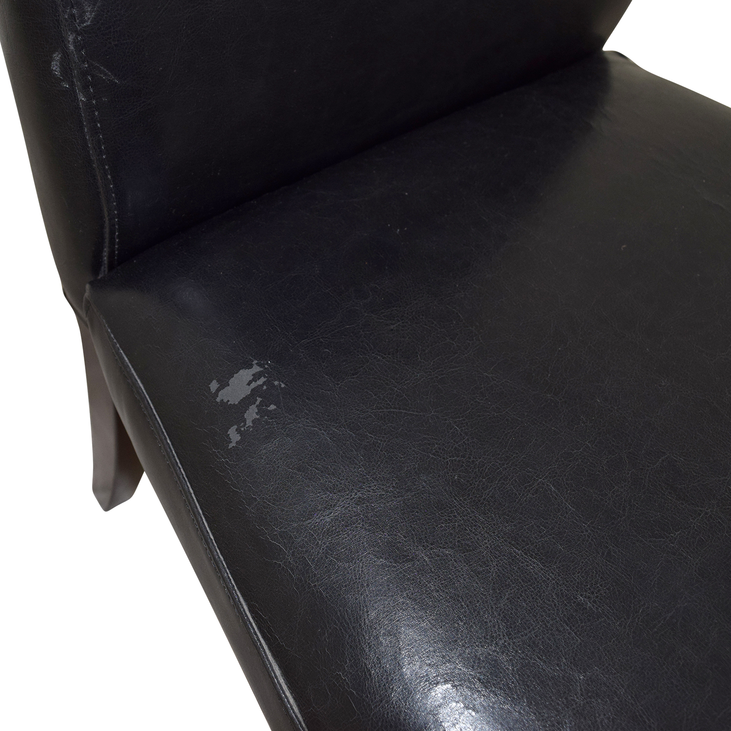 Black Leatherette Chair with Padded Seat discount