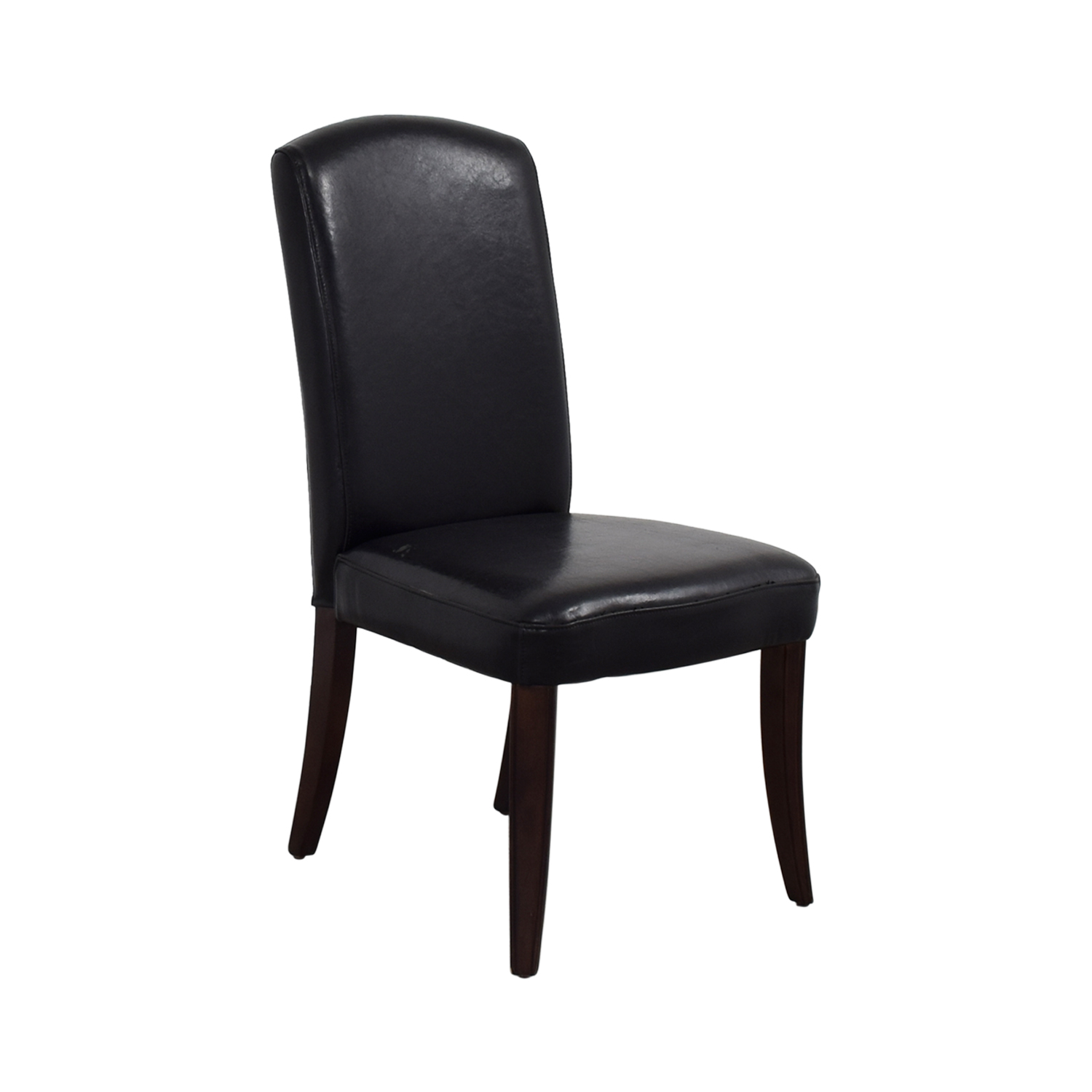 Black Leatherette Chair with Padded Seat nj