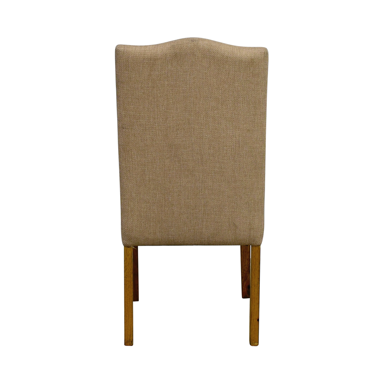 Beige High Back Chair with Nailhead Accent nyc