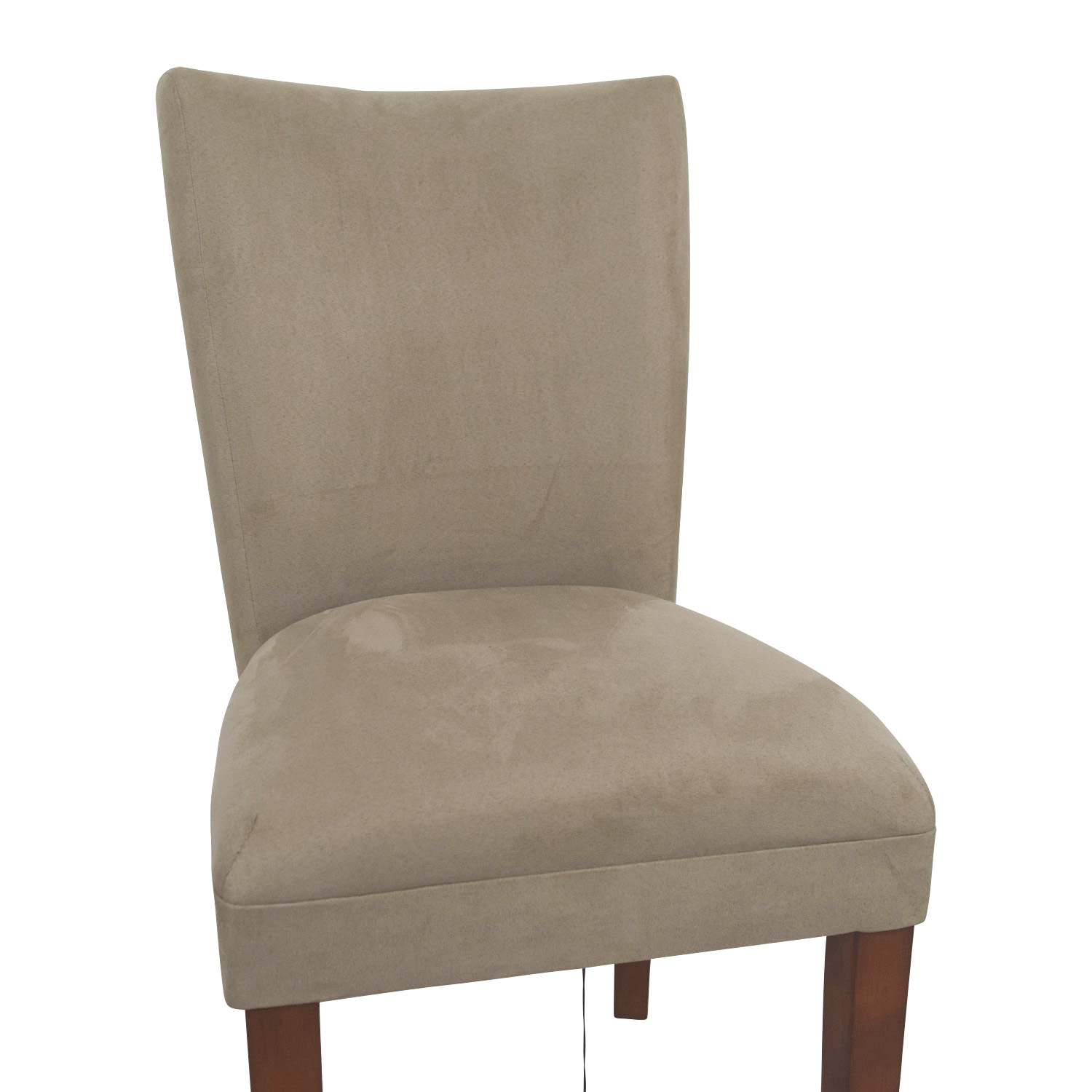 Coaster Coaster High Back Parsons Chair in Taupe Microfiber Fabric Chairs