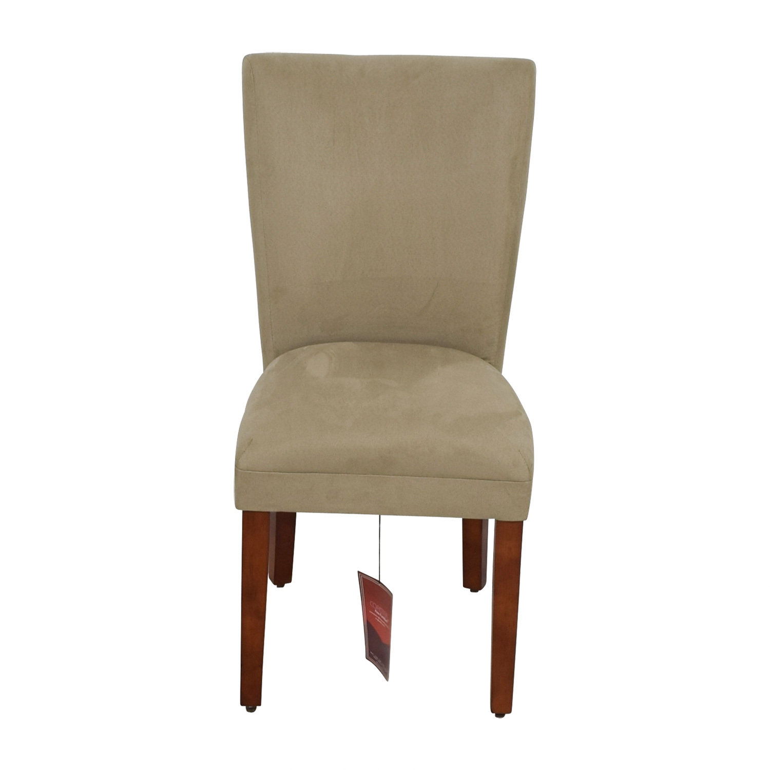 Coaster High Back Parsons Chair in Taupe Microfiber Fabric Coaster