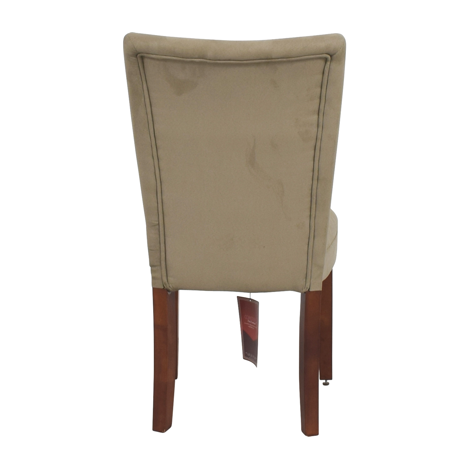 Coaster Coaster High Back Parsons Chair in Taupe Microfiber Fabric nyc