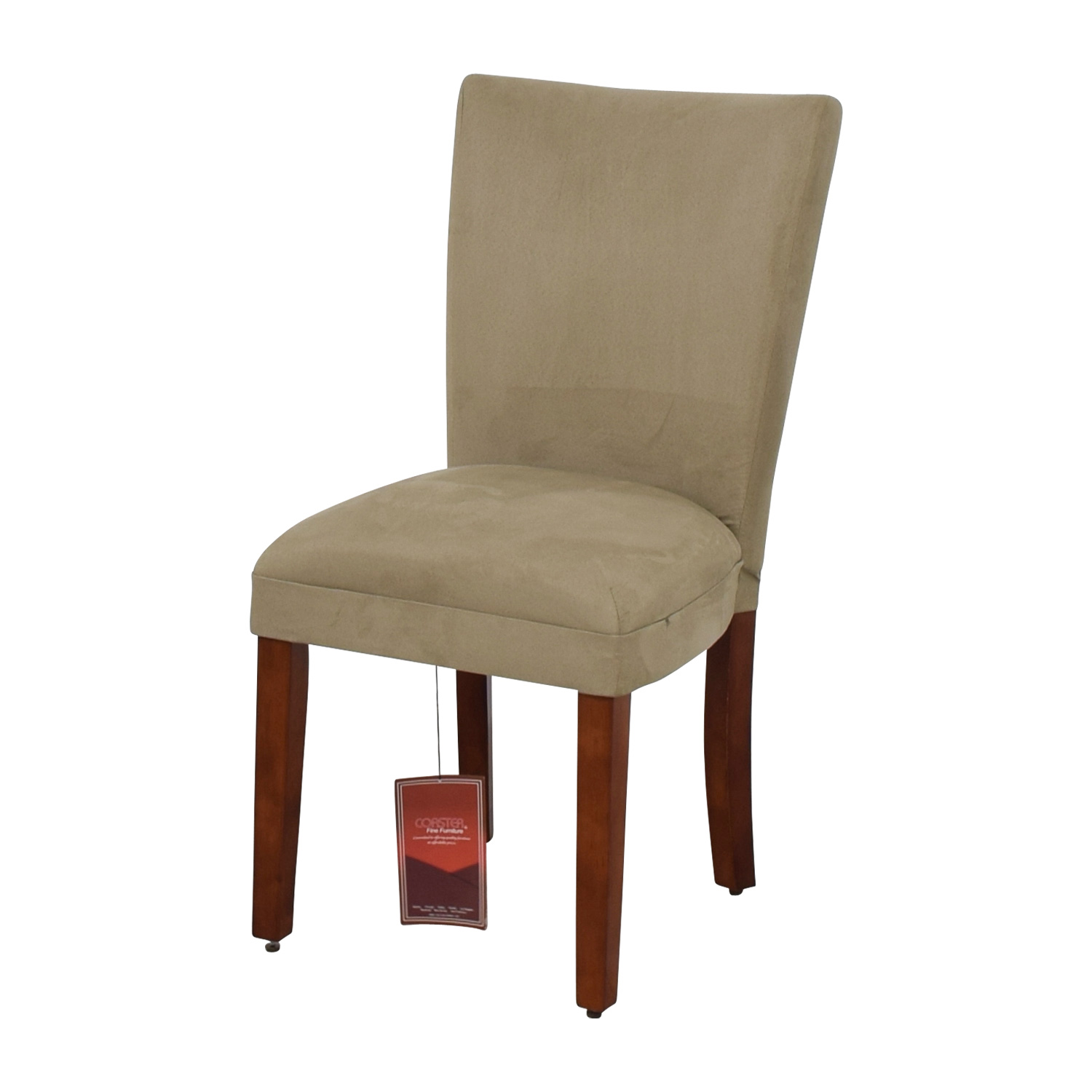 buy Coaster Coaster High Back Parsons Chair in Taupe Microfiber Fabric online