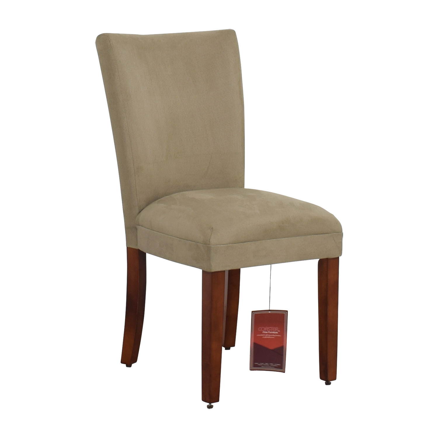 Coaster Coaster High Back Parsons Chair in Taupe Microfiber Fabric dimensions