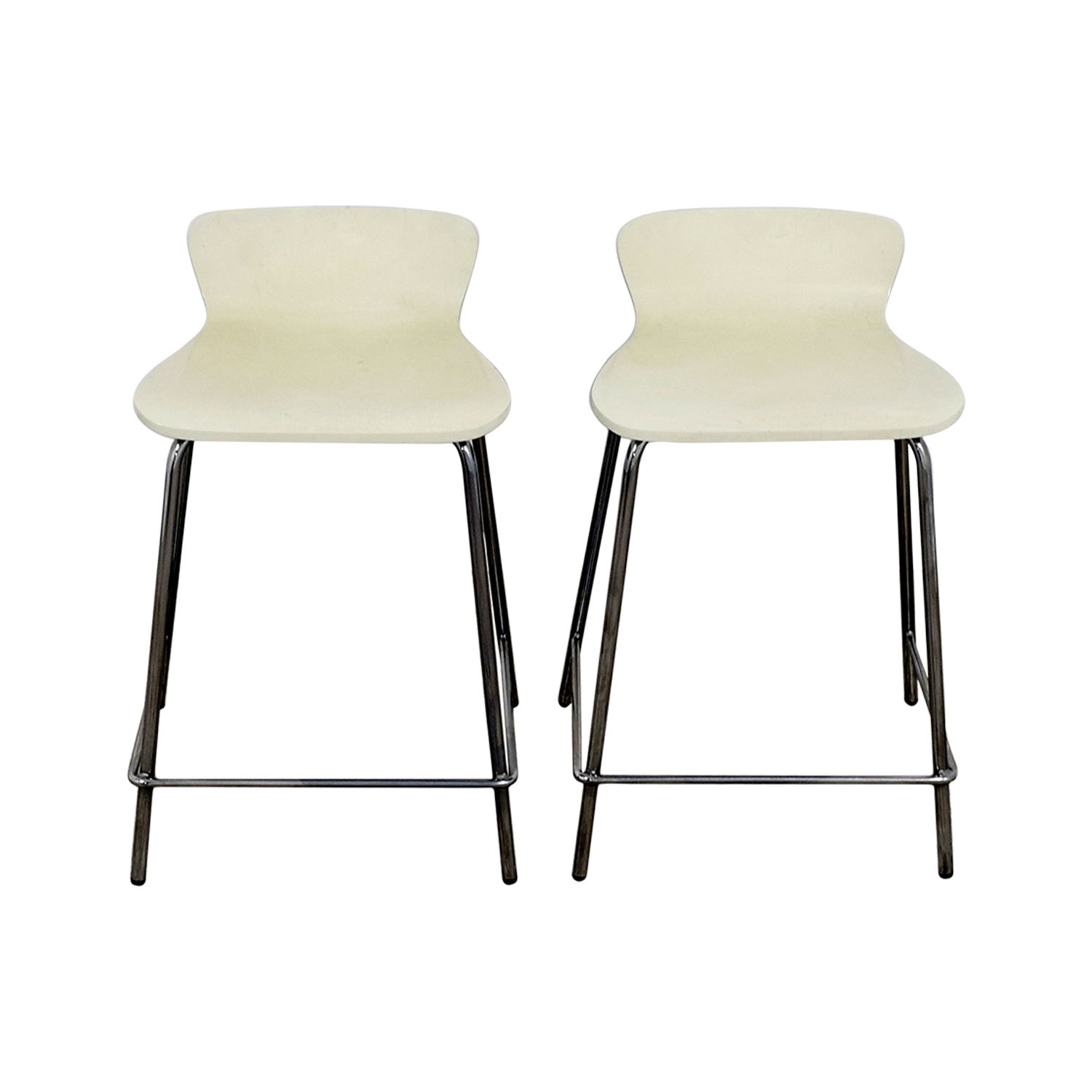 Crate & Barrel Crate & Barrel Felix White Counter Stools discount