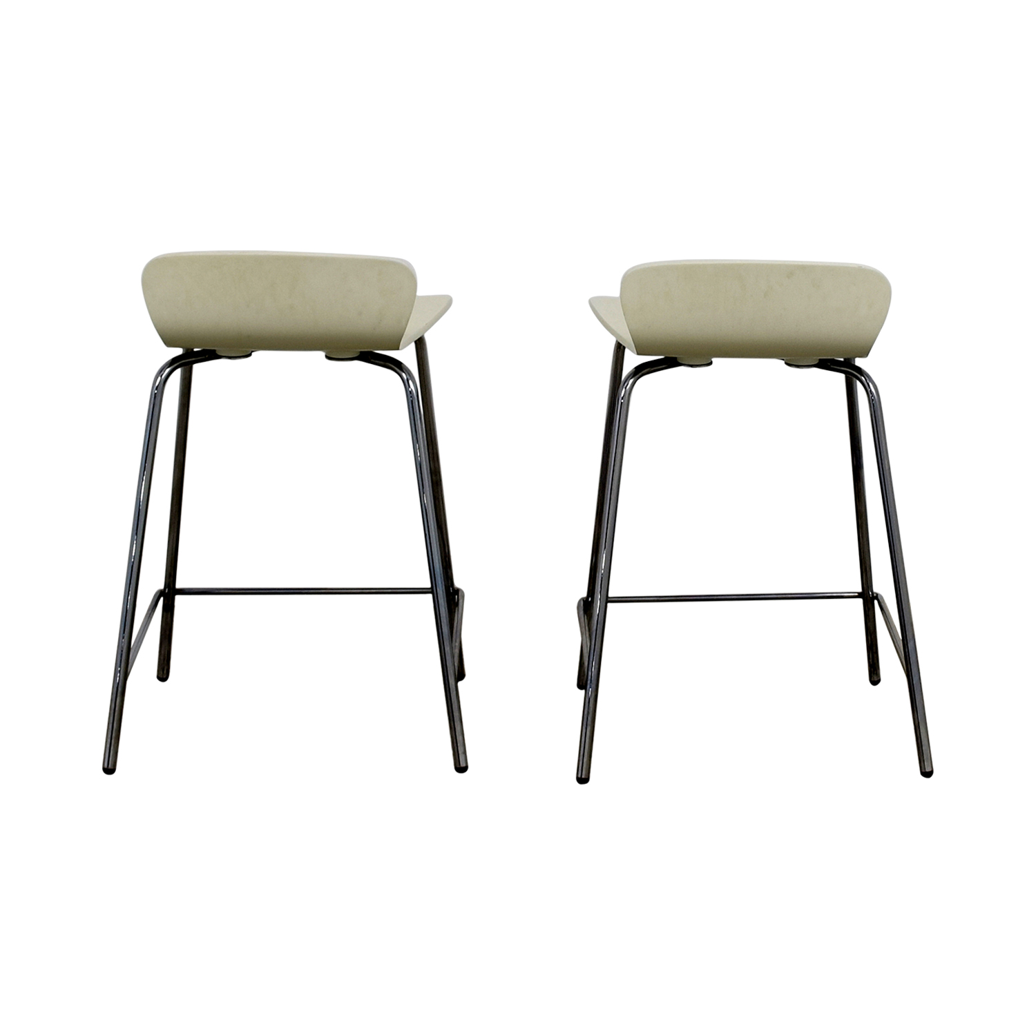 Crate & Barrel Crate & Barrel Felix White Counter Stools for sale