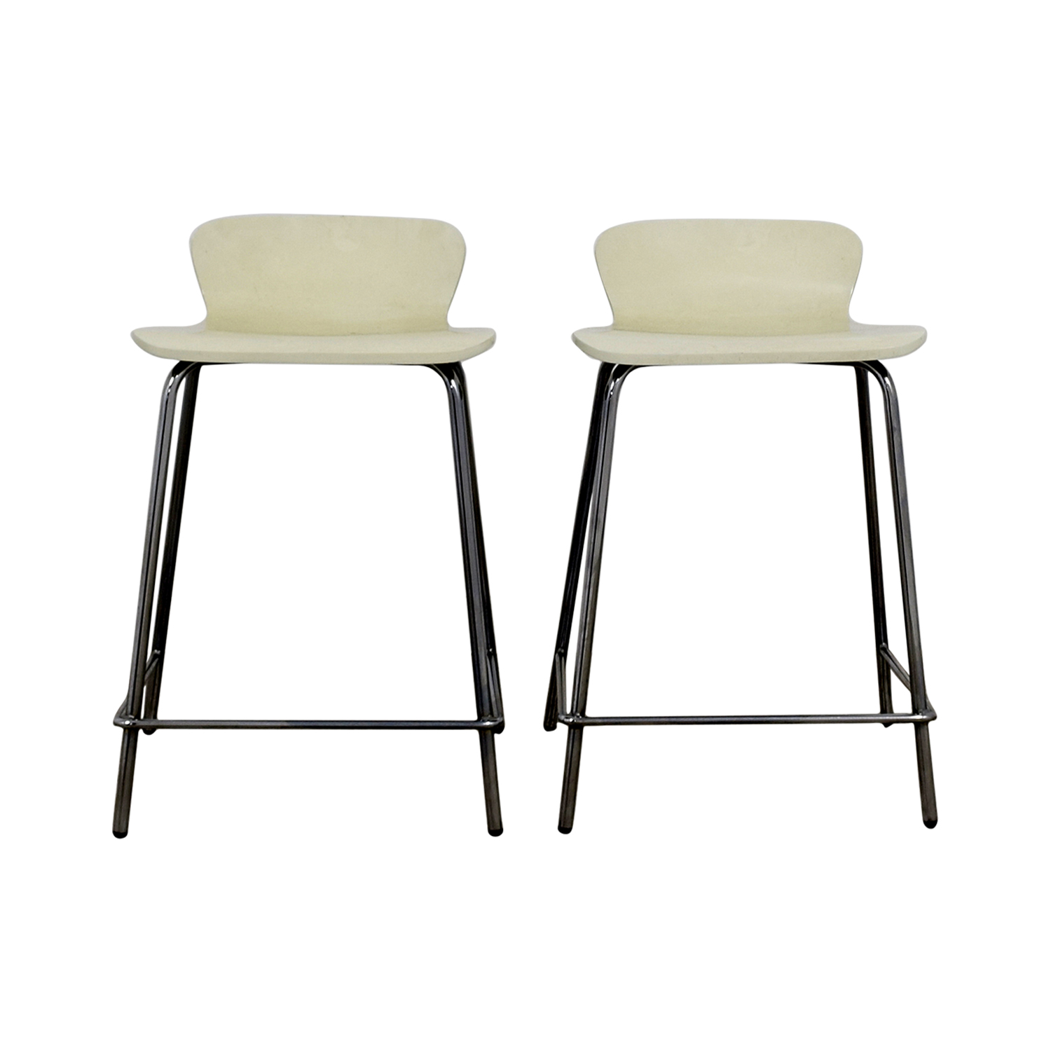 Crate & Barrel Crate & Barrel Felix White Counter Stools Chairs